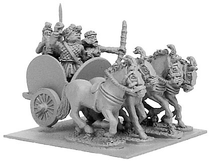 Indian 4-Horsed Chariot w/4 Crew