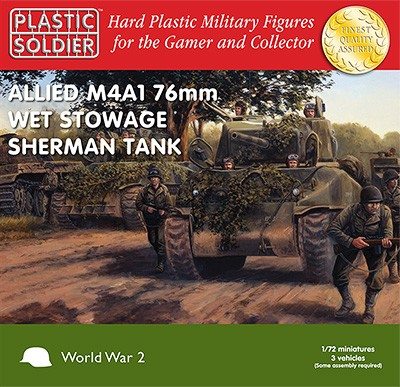 1/72nd Sherman M4A1 76mm Wet Stowage Tank