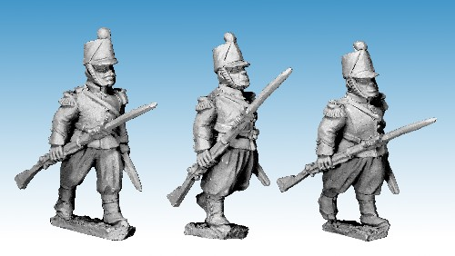 French Guard Chasseur Advancing.