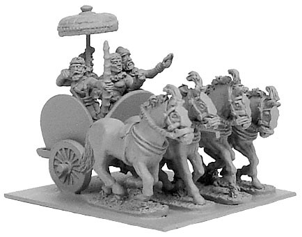 Indian General's 4-Horse Chariot w/4 Crew