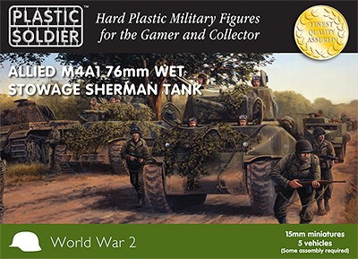 15mm Allied M4A1 76mm Wet Stowage Sherman