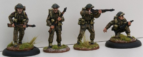 British Infantry Riflemen