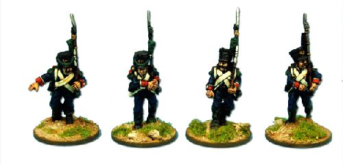 French Legere Elites, in shako