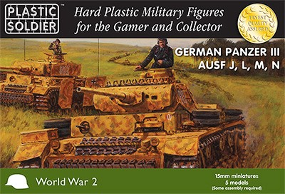 15mm German Panzer III J,L,M,N and Flamm
