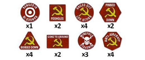Team Yankee Soviet Token Set (x22)