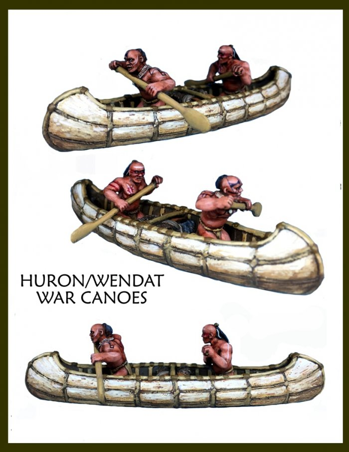 Huron/Wendat War Party Canoes