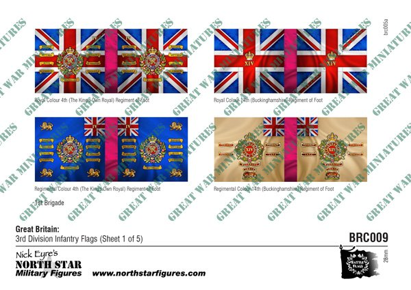 British 3rd Division Infantry Flags (Sheet 1 of 5)