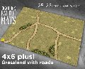 Photo of GRASSLAND GAMING BATTLE MAT WITH ROADS (CBM104-28mm)