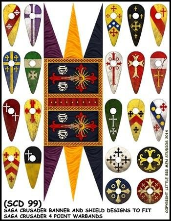 Crusader Banners & Shield