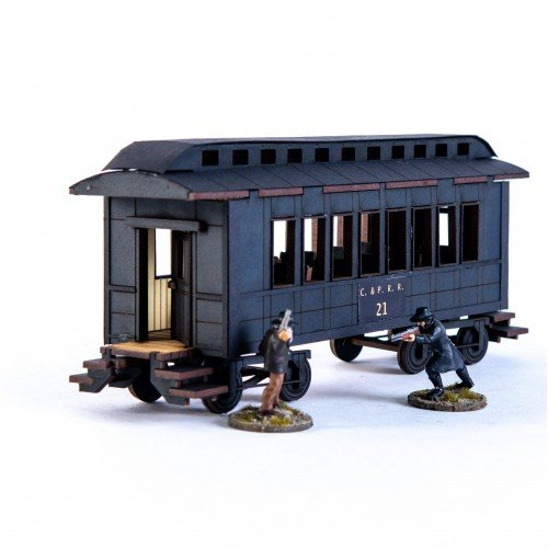 19th C. American Passenger Car (Black)
