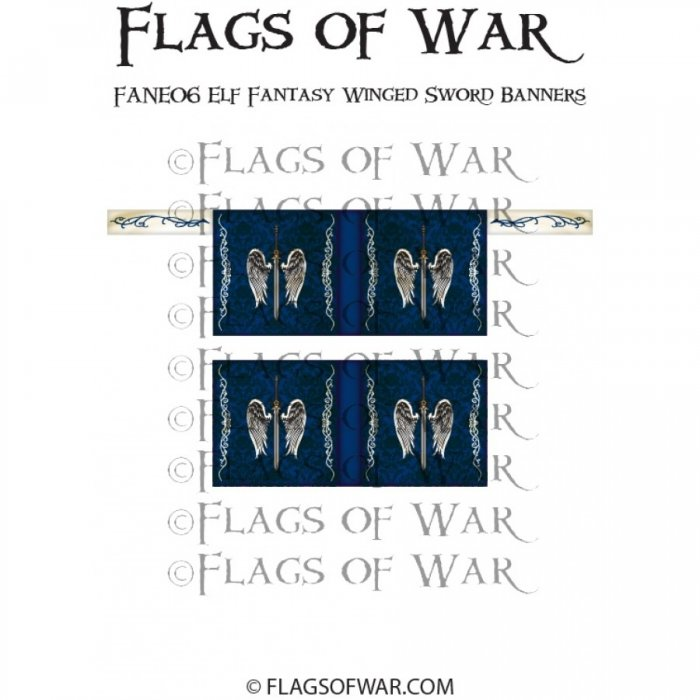 Elf Fantasy Winged Sword Banners