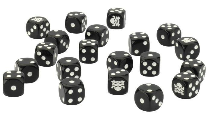 British 8th Army Dice Set