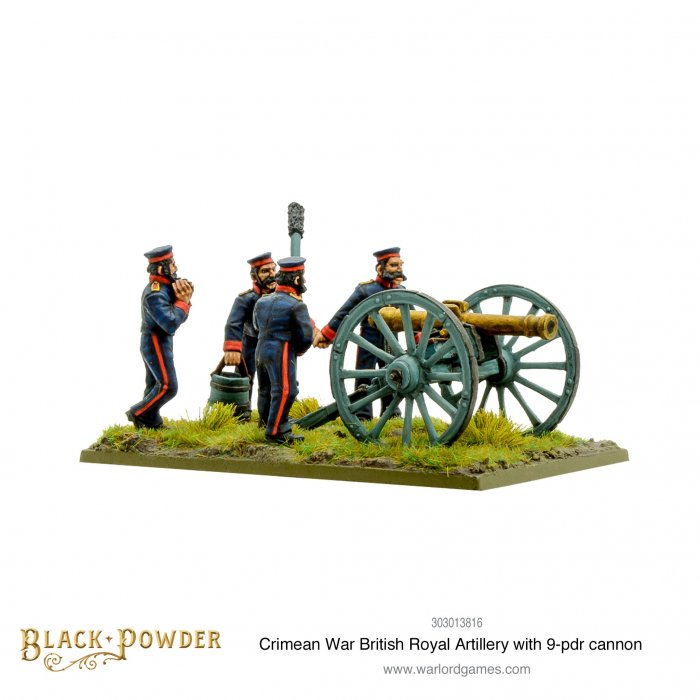 Crimean War British Royal artillery with 9 pdr cannon