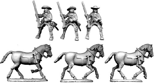 Mounted Dragoons in Hat