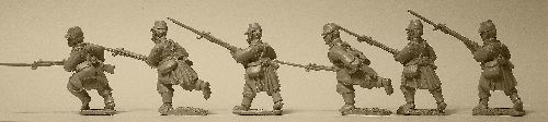 French Infantry Advancing in Light Equipment