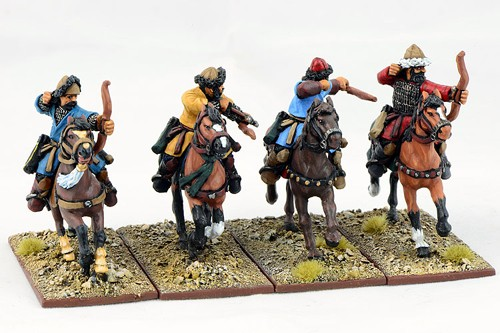Saracen Mounted Ghulams with Bows