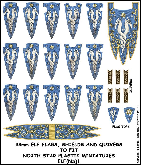 Elf Banner and Shields 1