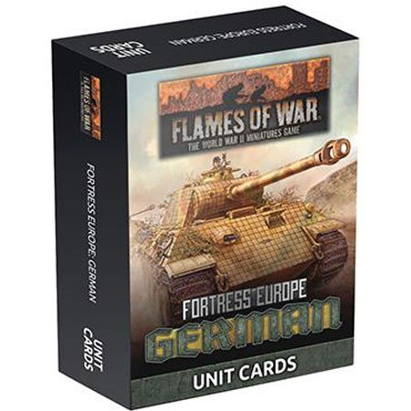 German Unit Cards - Fortress Europe