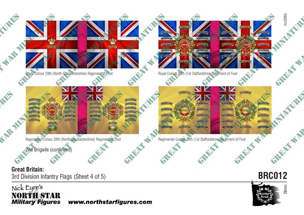 British 3rd Division Infantry Flags (Sheet 4 of 5