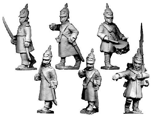 Russian Command in Helmets Advancing.