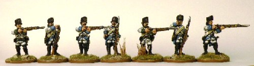 Austria-Hungary, 1796- German infantry, firing line