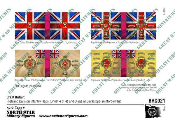 British Highland Division Infantry Flags (Sheet 4 of 4)