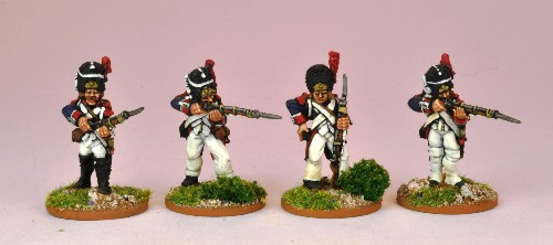 French Ligne Elites in bearskin, firing line