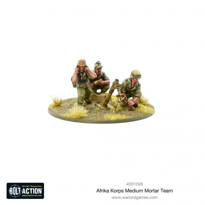 Bolt Action - Afrika Korps Medium Mortar Team