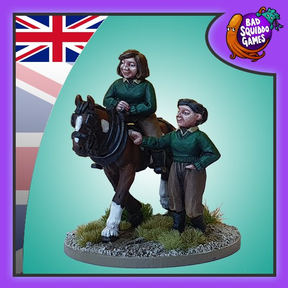 Land Army - Horse Rider & Lead