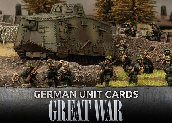 Great War - German Unit Cards