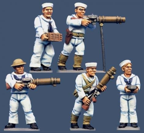 U.S. Gunboat Sailors/Lewis Guns