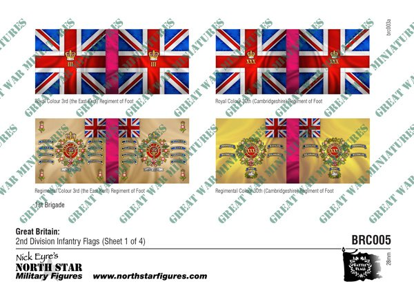 British 2nd Division Infantry Flags (Sheet 1 of 4)