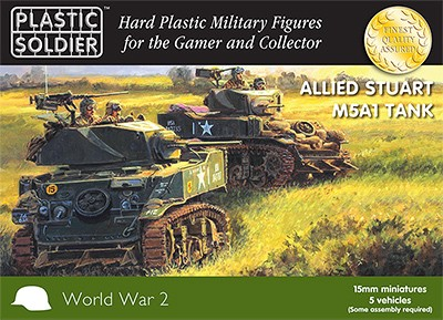 15mm Allied Stuart M5A1 Tank
