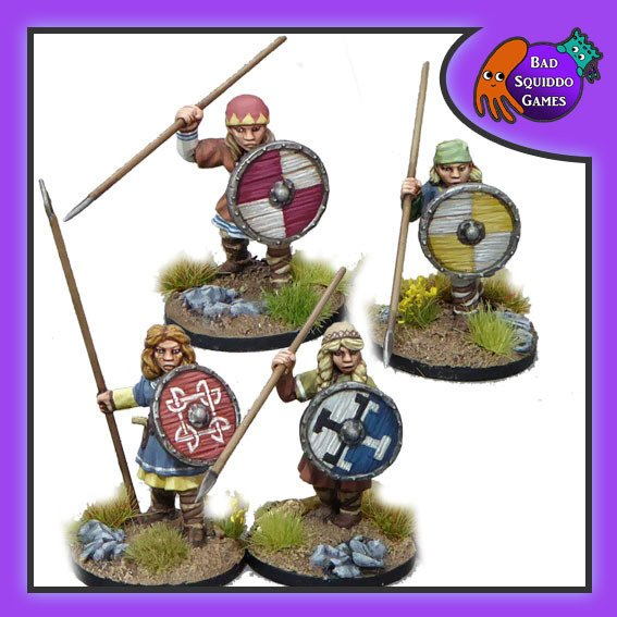Shieldmaiden Warriors (with Spears)