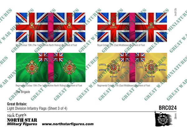 British Light Division Infantry Flags (Sheet 3 of 4)