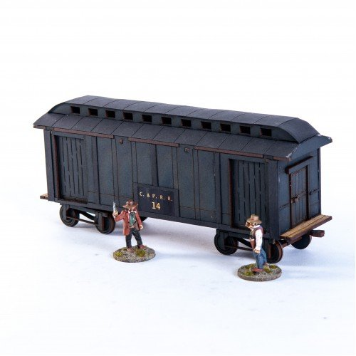 19th C. American Baggage Car (Black)