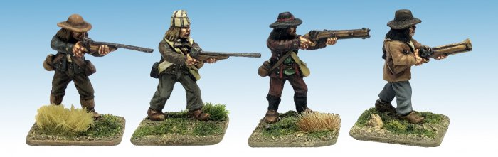 Chouans/ Vendeans with double-barrelled guns.