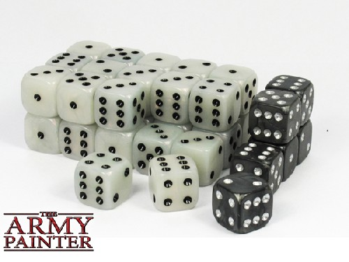 Wargaming Dice: White w. Black
