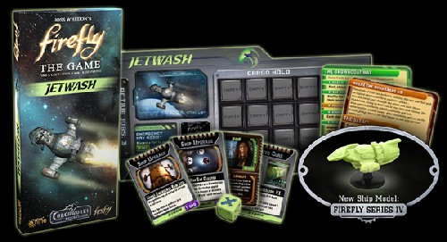Firefly: Jetwash - Ship and cards
