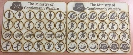 Markers for The Ministry of Gentlemanly Warfare.