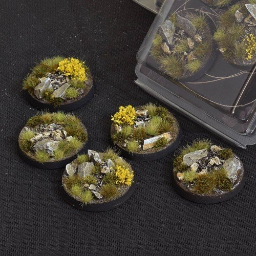 Highland Bases Round 40mm (x5)