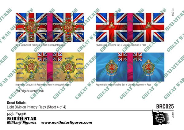 British Light Division Infantry Flags (Sheet 4 of 4)