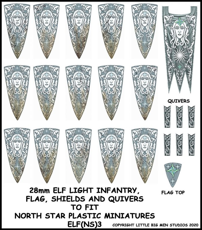 Elf Light Infantry Banner & Shields