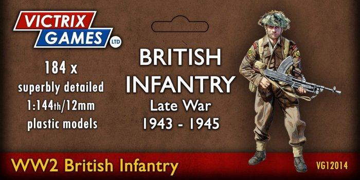 12mm Late War British Infantry and Heavy Weapons