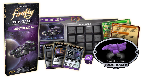 Firefly: Esmeralda - Ship and cards