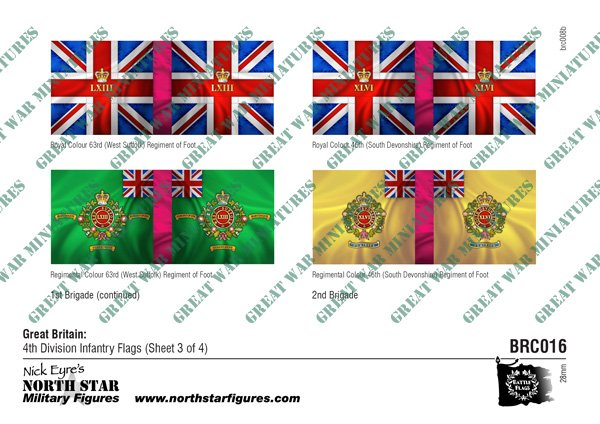 British 4th Division Infantry Flags (Sheet 3 of 4)