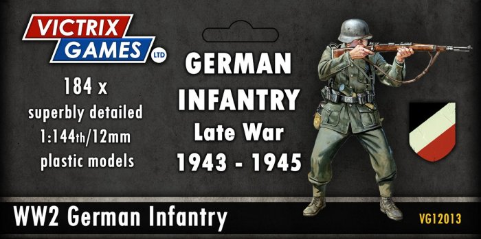 12mm Late War German Infantry and Heavy Weapons