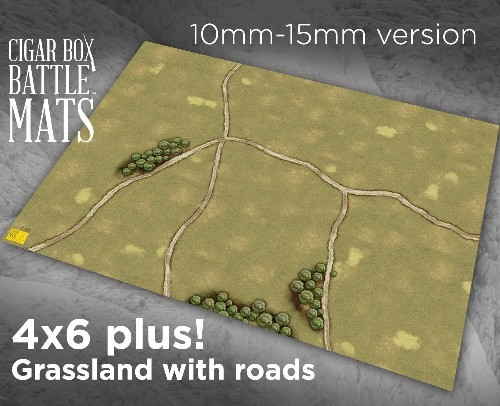 GRASSLAND GAMING BATTLE MAT WITH ROADS